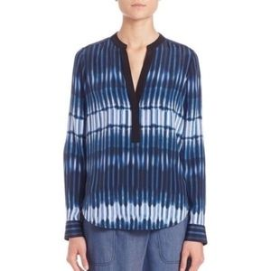 Vince Monaco Starlight Y-neck silk top